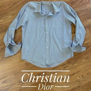 Christian Dior French Cuff Dress Shirt 16.5 35